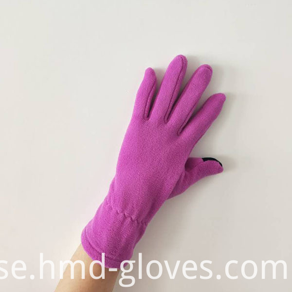 Touch Screen Fleece Gloves For Ladies Back