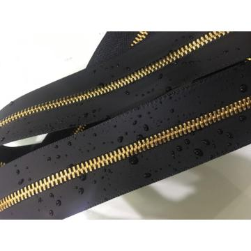 Heavy duty  golden brass zippers for luggage
