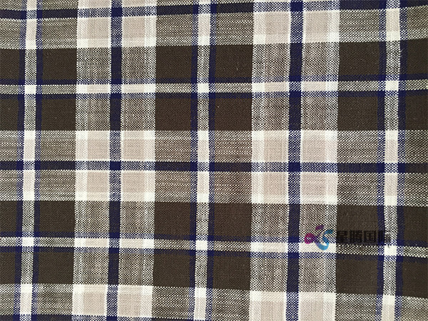 Check Bamboo Shirting Fabric