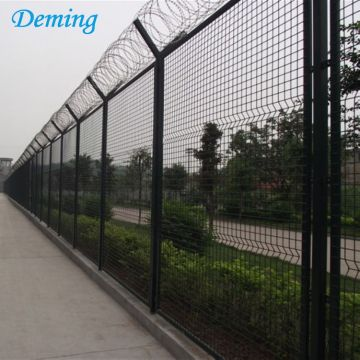 V Top Powder Coated Airport Wire Mesh Fence
