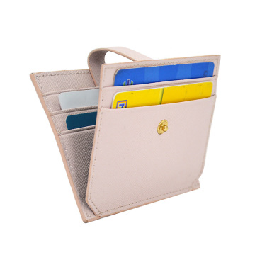 Simple Style Leather Sublimation Credit Card Holder
