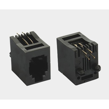 RJ11 Jack Top entry 4P4C Full Plastic