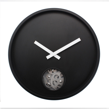 Black Gear Hanging Wall Clock