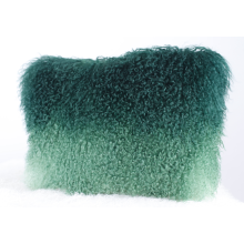 Mongolian Lamb Fur Floor Dyed Cushion