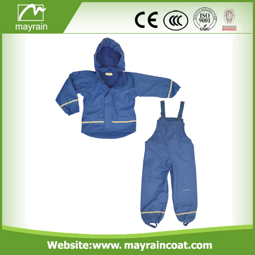 Waterproof Reflective Polyester Rainsuit