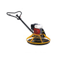 Concrete power trowel with foldable handle