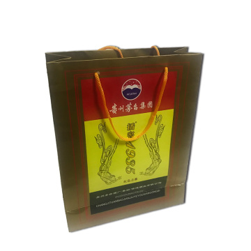 20 Years manufacturer for Paper Bags With Handles Wine paper gift bags export to Iraq Manufacturer