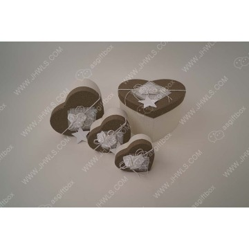 Handmade heart-shaped chocolate gift box