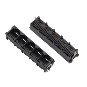 RJ11 1X5P Full Plastic with Metal legs