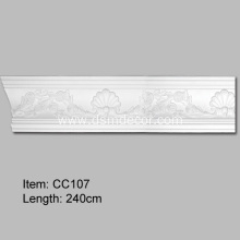 Quality for Crown Mouldings Modern Polyurethane Curved Carving Ceiling Cornice Moulding export to Poland Importers