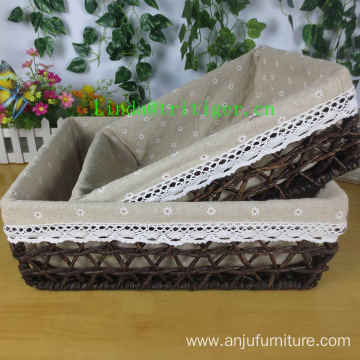 Decorative corn husk straw weave nesting Storage Basket Set
