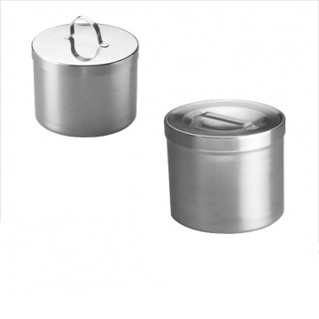Medical Stainless Steel Dressing Jar with Knob