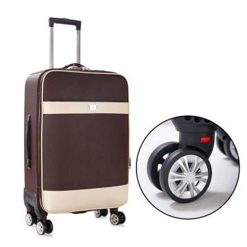 Durable PU business trolley suitcase set 20inch 28inch