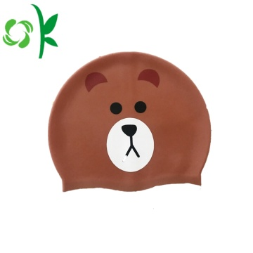 Silicone Training Funny Swim Junior Caps for Kids