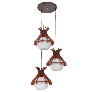 wooden lamps hanging light