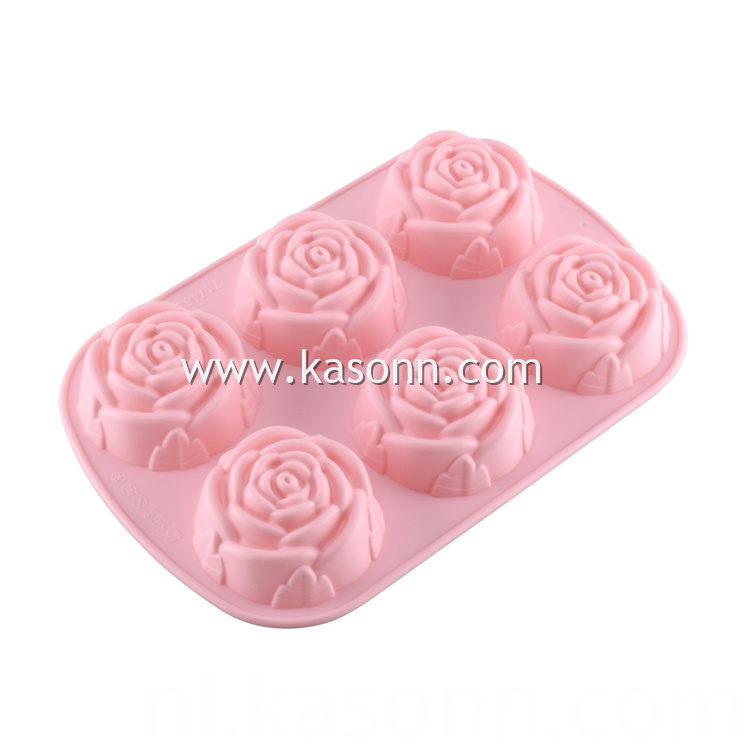 Rose Silicone Muffin Pan