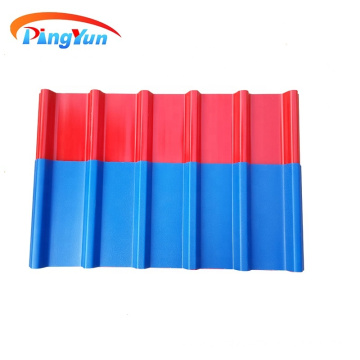 light weight asa pvc roof tile for warehouse