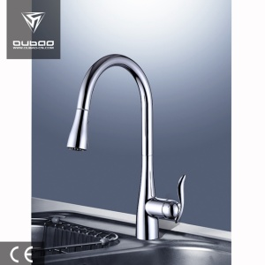 Pull-Down Hot And Cold Kitchen Sink Mixer Faucet