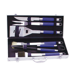 6pcs BBQ tools set with TPR coating handle
