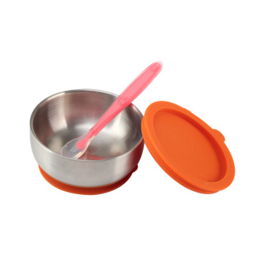 StainlessSteel Baby Bowl with Spoon for Feeding Baby