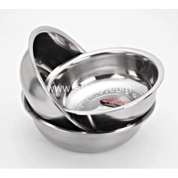 Round Practical Stainless Steel Soup Basin