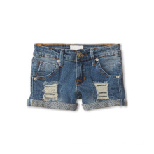 Dip Dyed Beached Children Blended Shorts Denim