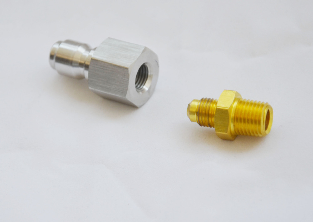 Stainless steel quick connect fittings