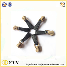 customized fancy slider pu leather zipper puller