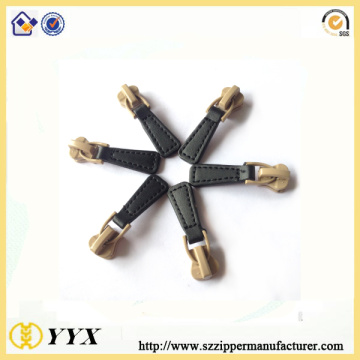 Reliable for Customized Zipper Puller customized fancy slider pu leather zipper puller supply to United States Manufacturer