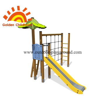 Simple Single Climbing Net Slide For Children