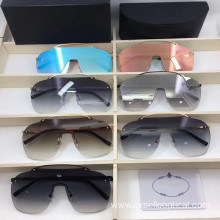 Goggle Rimless Sunglasses with Colorful Lens