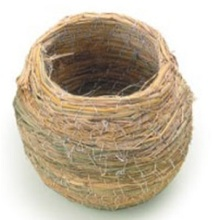 Pot Shaped Small Straw Bird Nest