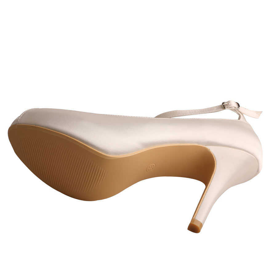 Peep Toe Ivory Shoes For Bridesmaids