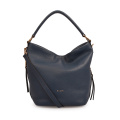 Plain Soft Leather Lady Handbags Hobo Shopper Purse