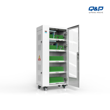 65 Bays tablets charging cabinet with LED right