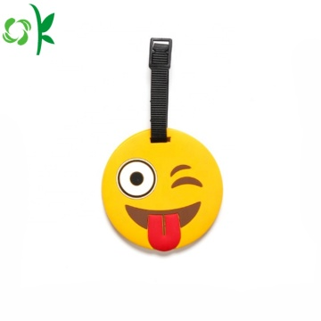 Popular Emoji PVC Luggage Tag for Travel