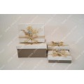Light linen decorative HAT Gift Box