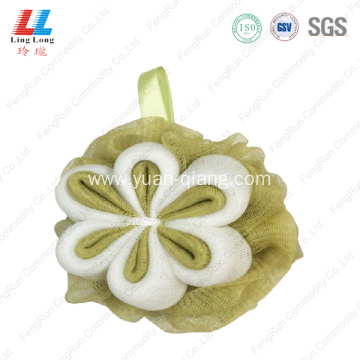 durable Smooth flower massage mesh sponge ball