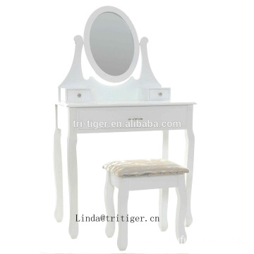 white dressing table vanity set makeup bedroom mirrored furniture with mirror and stool