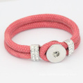 Noosa Jewelry Bangle With Rhinestone PU Leather Bracelet