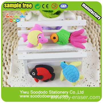Puzzle sea fish Shaped Eraser,Promotion stationery Japanese