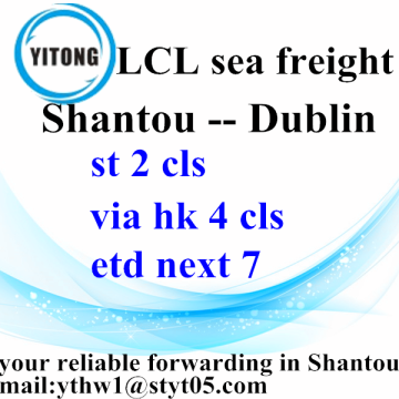 Good Quality for LCL Consolidators Shipping Forwarder sea freight From Shantou To Dublin export to Germany Factory