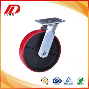5'' industrial swivel casters mold on pu wheels