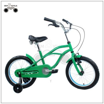 12inch 4 wheels green small kid's bikes