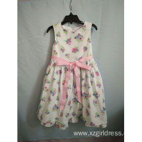 100%cotton flower party dress