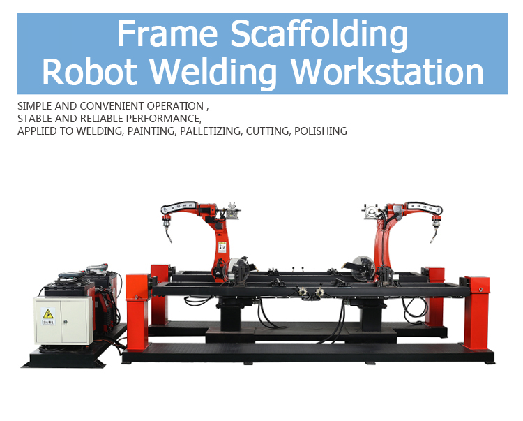 Frame Scaffolding Welding Workstation with Robots