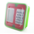 Stainless Steel vegetable cheese box grater with container