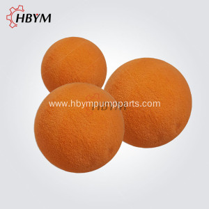 Concrete Pump Spare Parts Rubber Cleaning Sponge Ball
