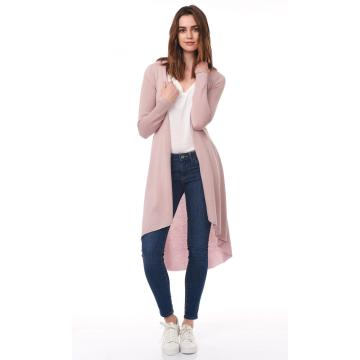 The Ladies Long Cardigan Flared Duster
