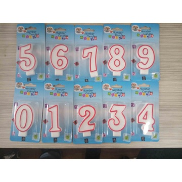 Hot Sale Birthday Number Burning Candle
